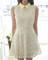 #8013 slim lace chiffon dress