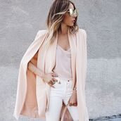 cardigan,cute,fierce,blogger,haute,rebellious,blush,cape,trendy,summer,winter outfits,fall outfits,spring,long