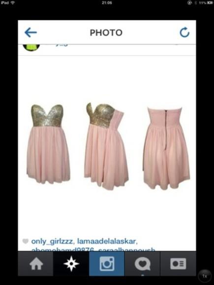 dress prom dress sparkling dress pink dress silver pink