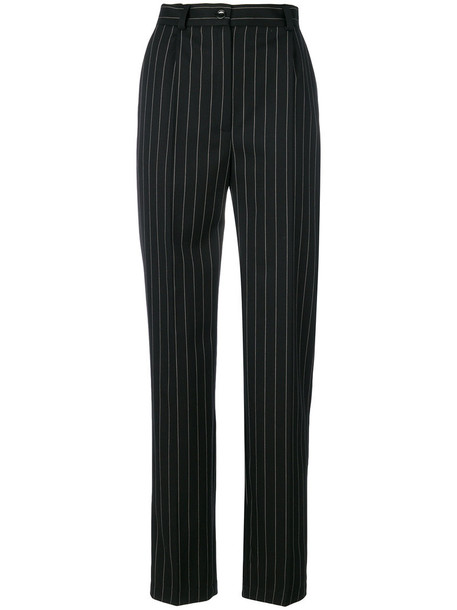 Seen high women black silk wool pants