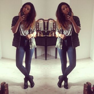 jacket high waisted jeans booties boots jeans primark raspberry jam