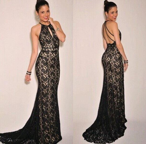 dress lace dress long evening dress