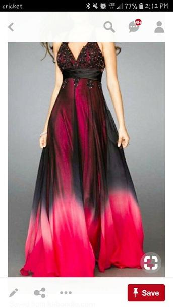 dress black purple ombré dress