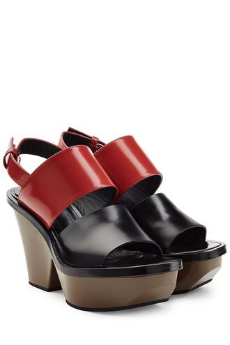 colorblock sandals platform sandals leather multicolor shoes