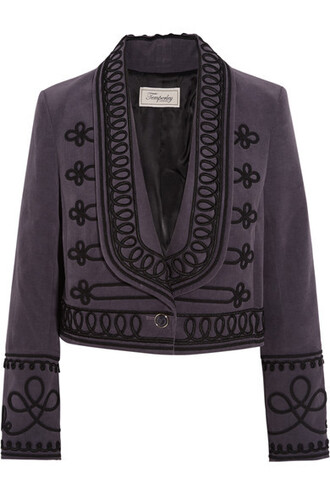 jacket embroidered cotton
