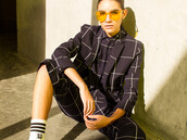 coat,lucca x wildfang,windowpane,suit,office outfits,wildfang,blazer,navy,grid,badass,boss,monochrome,women,clothes