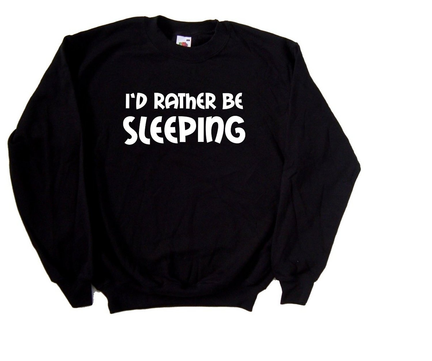 Amazon.com: I'd Rather Be Sleeping Black Sweatshirt: Clothing