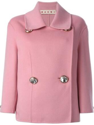 blazer embellished purple pink jacket