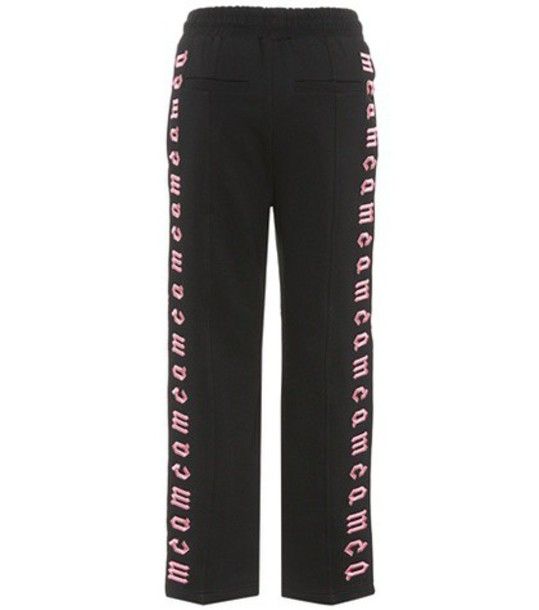McQ Alexander McQueen sweatpants embroidered cotton black pants