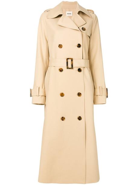 coat trench coat women nude cotton silk