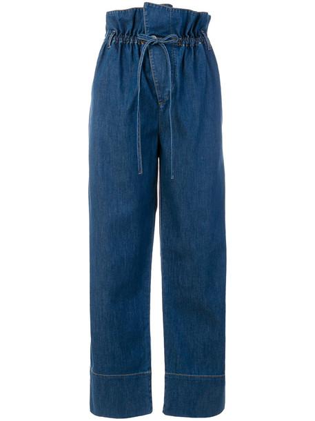 jeans bow women spandex cotton blue