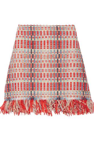 skirt metallic blue sky blue red