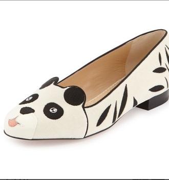 panda bear panda shoes fashion style loafers smoking slippers