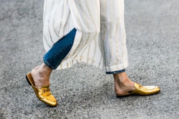 shoes gucci princetown gucci gucci shoes gold shoes slide shoes