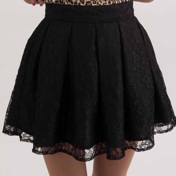 Black Lace Skirt - Dress Ala