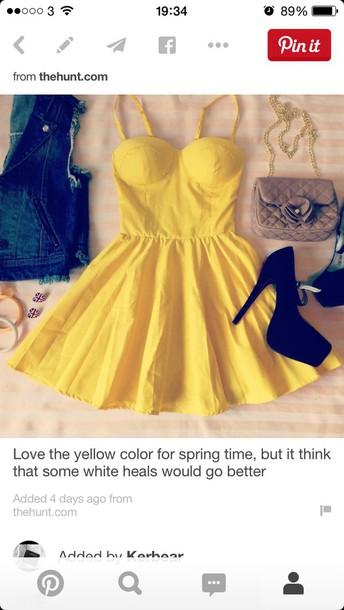 dress yellow dress yellow