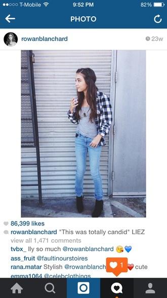 jeans rowan blanchard girl meets world plaid plaid shirt t-shirt shirt boots shoes top