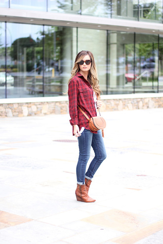 for all things lovely blogger tank top shirt jeans shoes bag sunglasses make-up