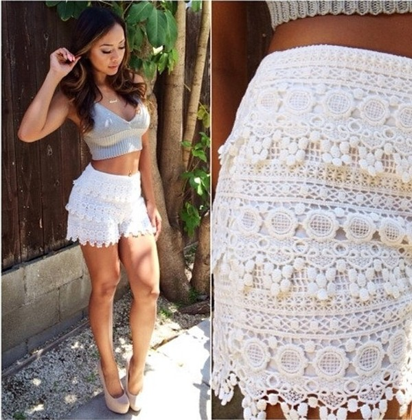 shorts floral flowers flowered shorts fashion female instagram tumblr classy designer white summer beach
