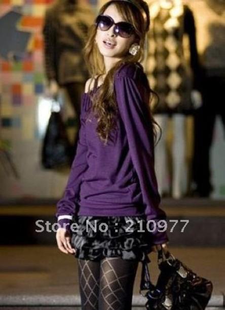sweater clothes sweater dress purple