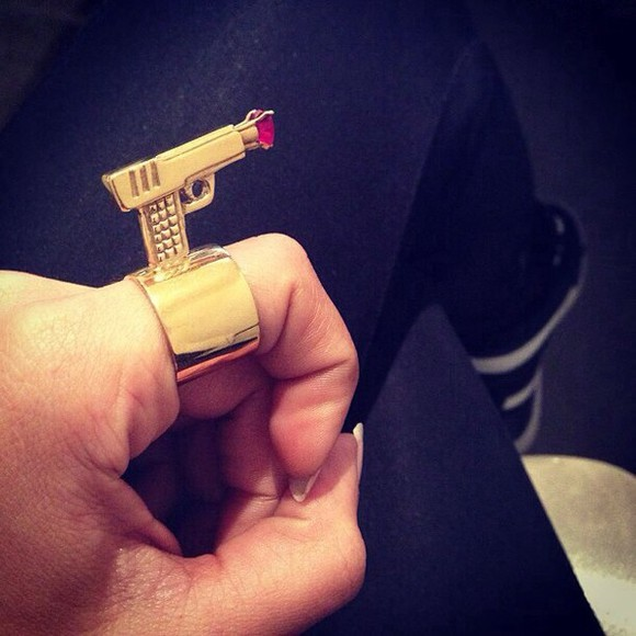 jewels gun ring ruby