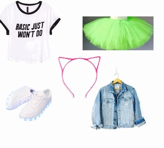 skirt neon tutu neon tutu pop couture girly