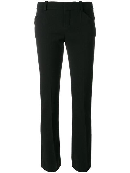 Chloe women spandex cotton black silk wool pants