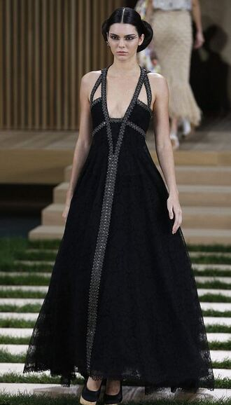 dress gown kendall jenner prom dress runway model fashion week 2016 haute couture shoes heels