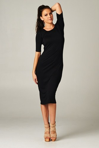 Slim Me Down Black Dress - JuJu's Closet