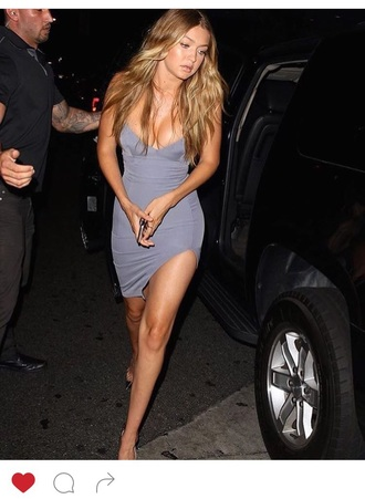 dress grey gigi hadid love wantitsobad help need this dress bodycon bodycon dress sexy sexy party dresses sexy dress party outfits cute cute girl cute dress girly girly dress celebrity celebrity style celebstyle for less party dress clubwear club dress date outfit birthday dress romantic dress romantic summer dress graduation dress