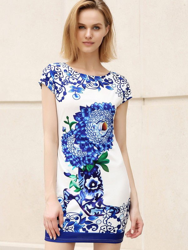 dress blue fashion style floral trendy flowers gamiss