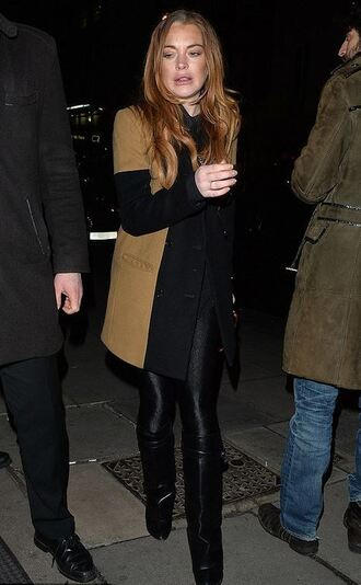 coat boots lindsay lohan shoes