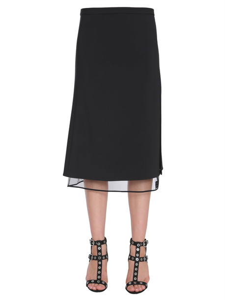 Versace Midi Crêpe Skirt in nero