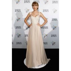 Taylor Swift Cream Formal Prom Dress 2012 ARIA Awards