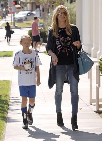 jeans heidi klum shoes shirt bag sunglasses