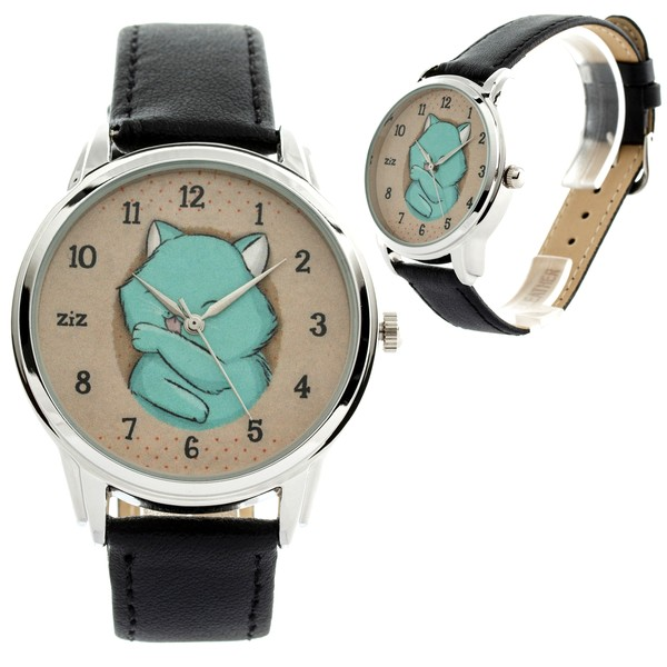 jewels watch watch baby blue cats ziz watch ziziztime
