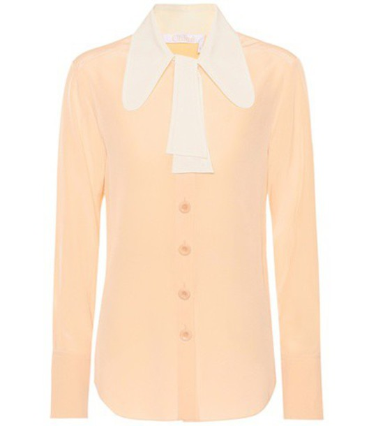Chloe blouse silk top