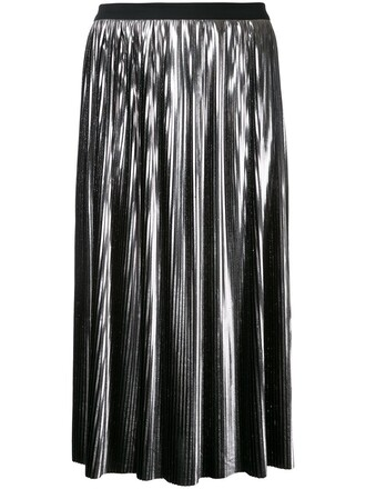 skirt pleated skirt pleated women grey metallic jil sander grey skirt silver metallic skirt female