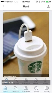 home accessory,iphone charger,technology,starbucks coffee,starbucks bitch,bling starbucks cup
