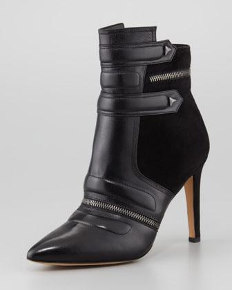 Sam Edelman | Margo Suede & Leather Bootie, Black (Stylist Pick!) - CUSP