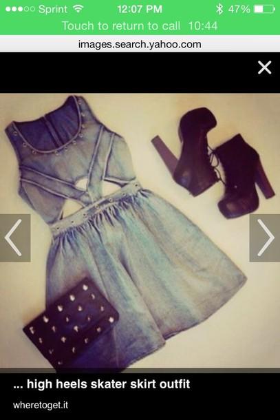 dress jean dress skater dress