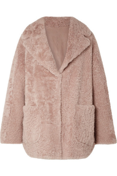 Brunello Cucinelli - Reversible Shearling Coat - Antique rose