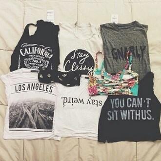 tank top graphic crop tops graphic tank top california swimwear words on shirt t-shirt shirt
