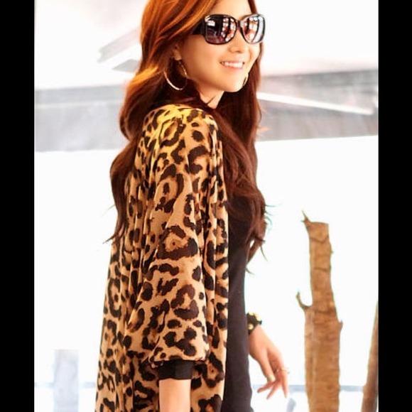 16% off Zanzea Outerwear - Gorgeous leopard print chiffon long open cardigan from Becky's closet on Poshmark