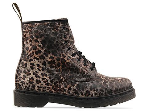 Dr. Martens 8 Eye Boot Mens in Leopard Print at Solestruck.com