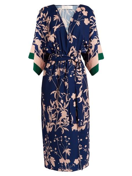 dress weed print blue