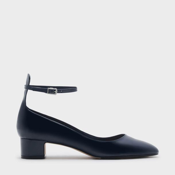 heels navy shoes