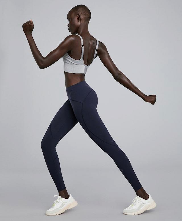blue sculpt leggings
