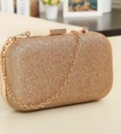bag,clutch,glitter,gold,champagne gold,handbag,prom,evening bag,chain clutch,chain band,jewels