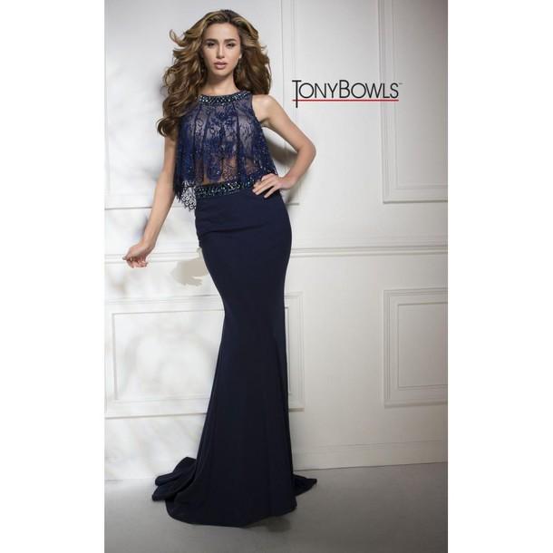 cc503cb3579 dress, tony awards, lookbook store, navy dress, white, prom dress ...